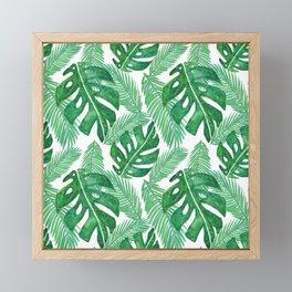 Tropical Leaf Pattern Framed Mini Art Print