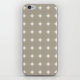 Gray Grey Alabaster Plus iPhone Skin