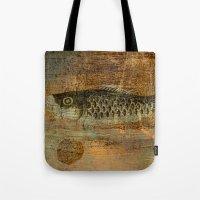 spawn Tote Bags featuring 鯉 幟 (The Koinobori) by Fernando Vieira