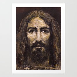 The Man (Jesus) of the Holy Shroud Art Print