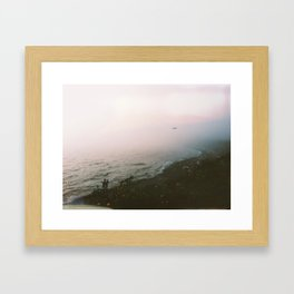 misty coast Framed Art Print