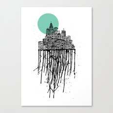 City Drips Canvas Print