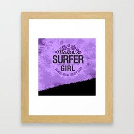 Mason's Surfer Girl Framed Art Print