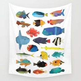 Tropical Fish chart Wall Tapestry