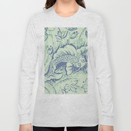 Carp in blue and soft green Long Sleeve T-shirt
