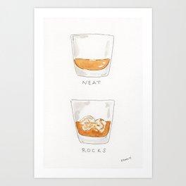 Neat Rocks Art Print