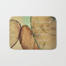 The Voice Of Your Heart Whispers To My Soul - Wind Chimes - Rustic - Wedding - Valentine's Day Bath Mat