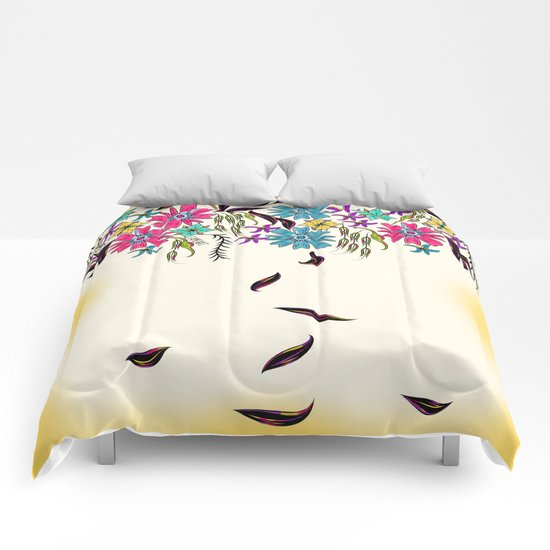 Vibrant Hanging Floral Comforters