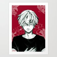 viria Art Prints featuring Kaneki by viria