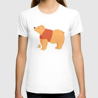pooh T-shirts featuring Pooh Bear by Ray Elaine