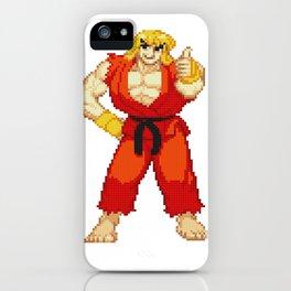 Ken Masters Thumb Up Pixel Art iPhone Case