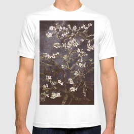 Vincent Van Gogh Almond Blossoms dark gray slate T-shirt