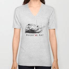 Rugby Fly-Pass by PPereyra Unisex V-Neck