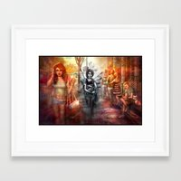 depression Framed Art Prints featuring Depression by Mitul Mistry