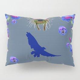 BLUE  NATURE FLORAL FANTASY DREAMS Pillow Sham