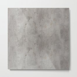 Dirty Bare Concrete Metal Print