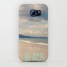 LIFE IS A BEACH Galaxy S8 Slim Case