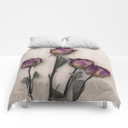 four dried roses Comforters