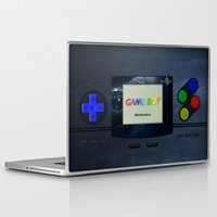 gameboy Laptop & iPad Skins featuring GAMEBOY by MiliarderBrown