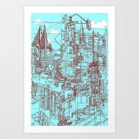 San Francisco! (Turquoise) Art Print