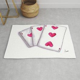love heart cards Rug