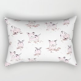 Pigs in the Mud Rectangular Pillow