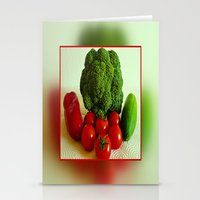 vegetables Stationery Cards featuring Fresh Vegetables by Art-Motiva