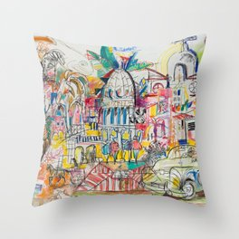 Soul of Havana Throw Pillow