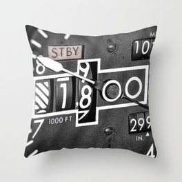 Altimeter Throw Pillow