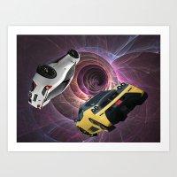 Racing Through the Wormhole Art Print