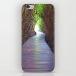 Underpass of dead trees iPhone Skin