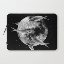 fish thank with floathing moon Laptop Sleeve