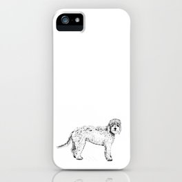 Labradoodle/Goldendoodle Ink Drawing iPhone Case