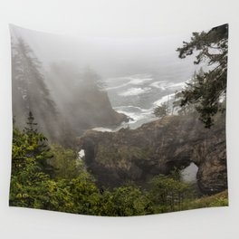 Fog Over Natural Bridges Wall Tapestry