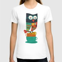 morning T-shirts featuring Morning Owl by Picomodi