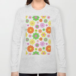 Vintage Daisy Crazy Floral Long Sleeve T-shirt