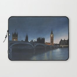 The Palace of Westminster London Oil on Canvas Laptop Sleeve