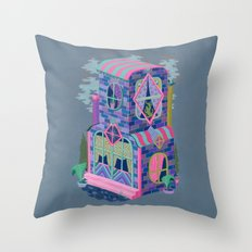 Diamond House Throw Pillow