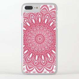 Red Wine Color Mandala Minimal Minimalistic Simple (Yet Bold) Clear iPhone Case