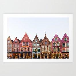 Colorful Bruges Art Print