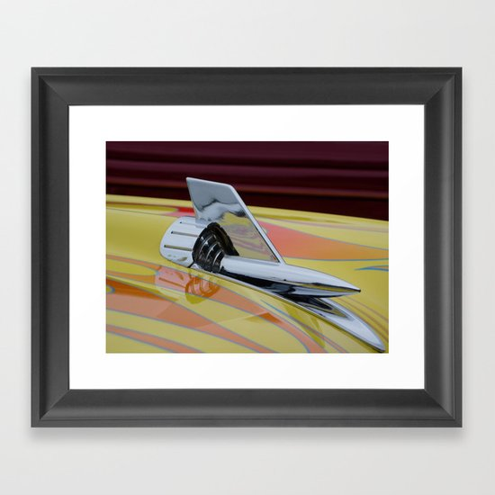Rocket with Pinstripes Framed Art Print