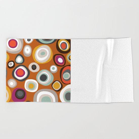 veneto boho spot amber Beach Towel