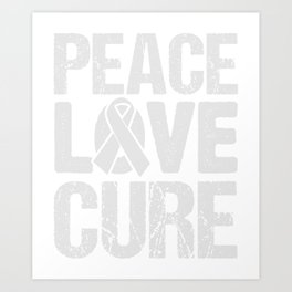Peace Love And Cure Cancer Awareness T-Shirt Art Print