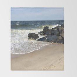 Baesic Belmar Beach Throw Blanket
