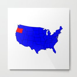 State of Oregon Location Metal Print
