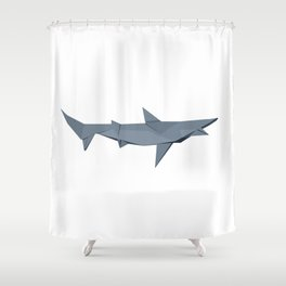 Origami Shark Shower Curtain