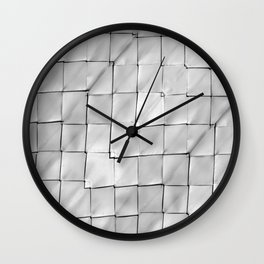 Silver Geometric Pattern Wall Clock