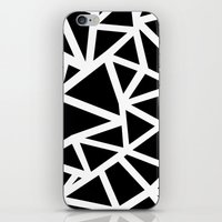 Ab Outline Thicker Black iPhone & iPod Skin