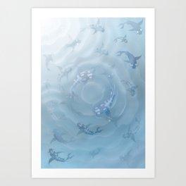 Koi Fish Aquarium Art Print