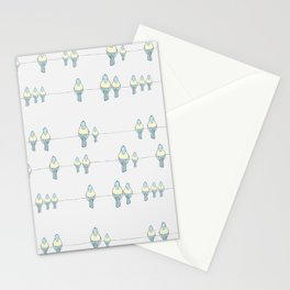 Birds on the line Stationery Cards